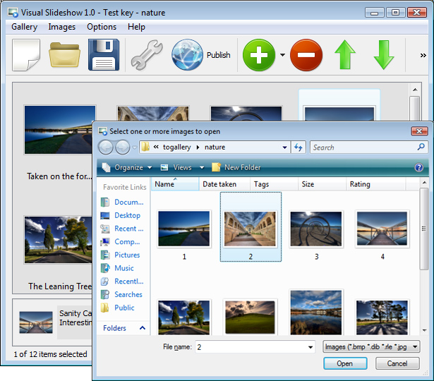 Add Images To Gallery : Flash Slideshow Maker For Windows