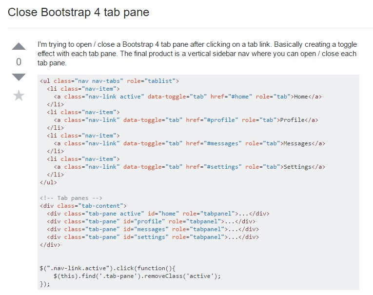 How to  close up Bootstrap 4 tab pane