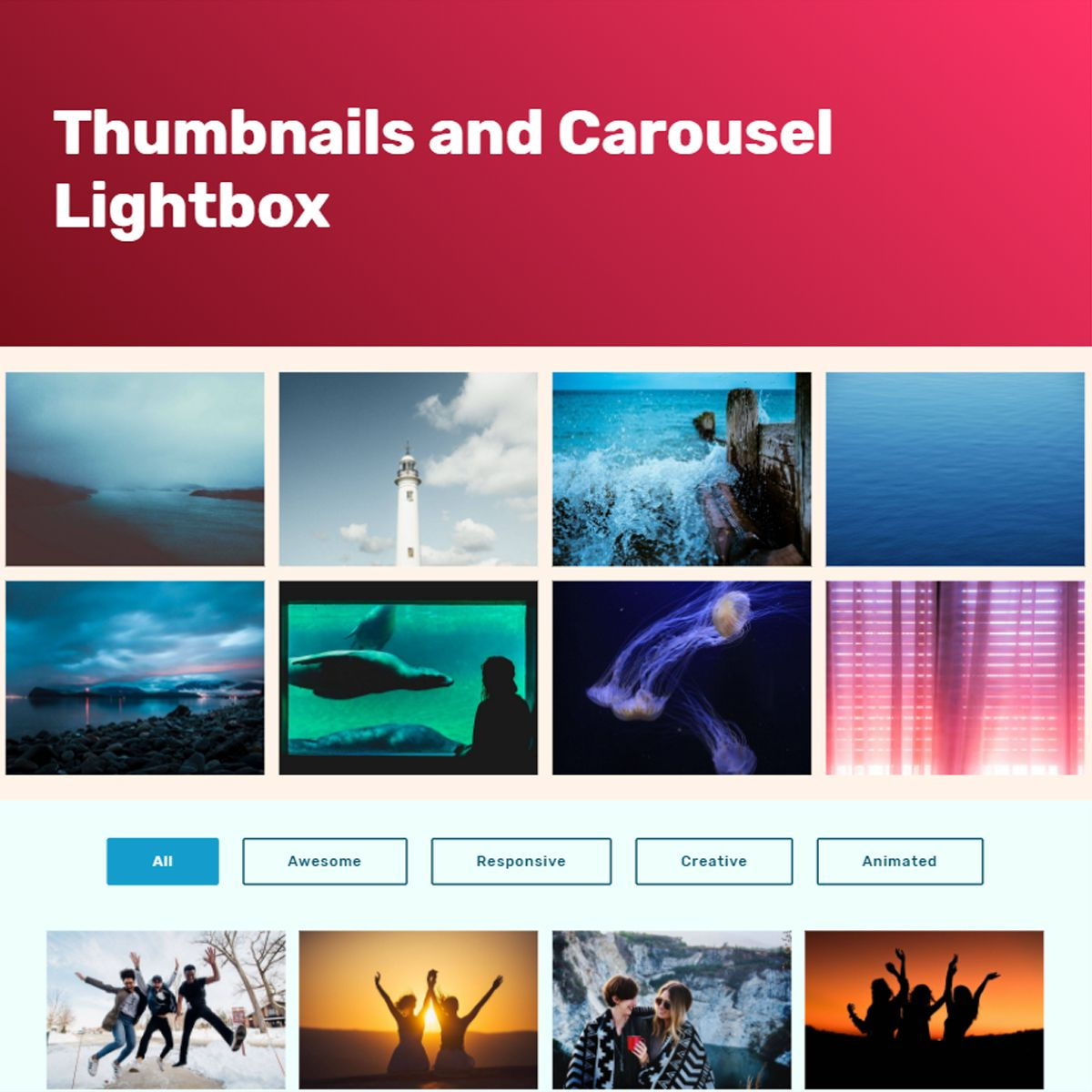 HTML5 Bootstrap Picture Carousel
