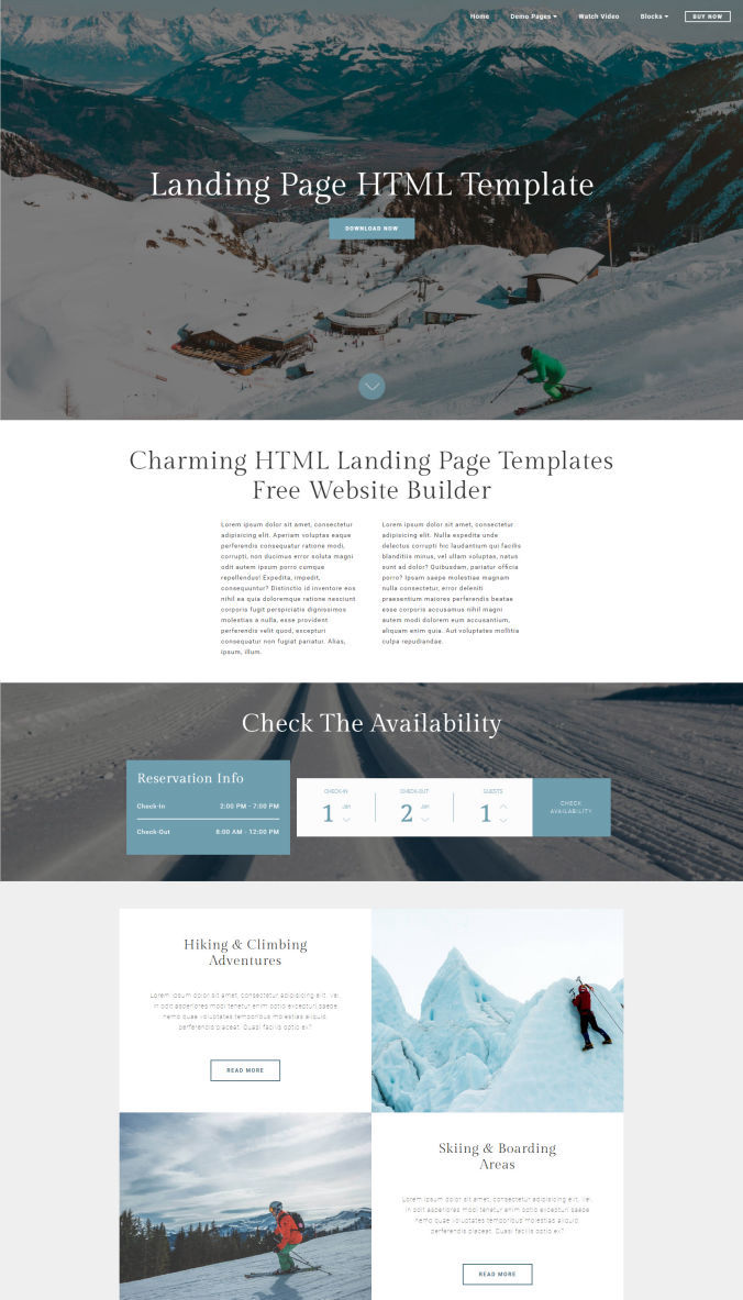 Website Landing Page Templates