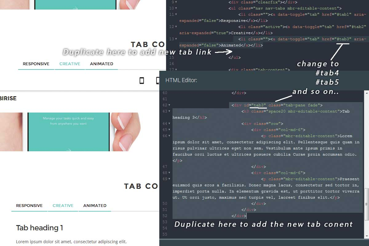 Custom Bootstrap One Page Theme Creator