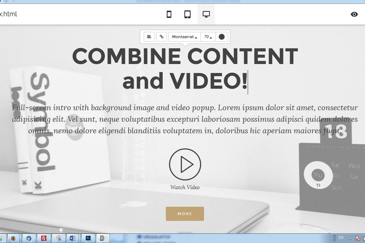 WYSIWYG Responsive Website Maker