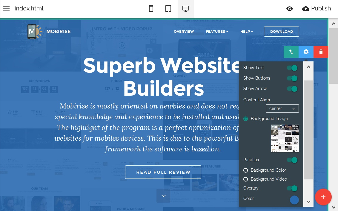 HTML5 Site Editor