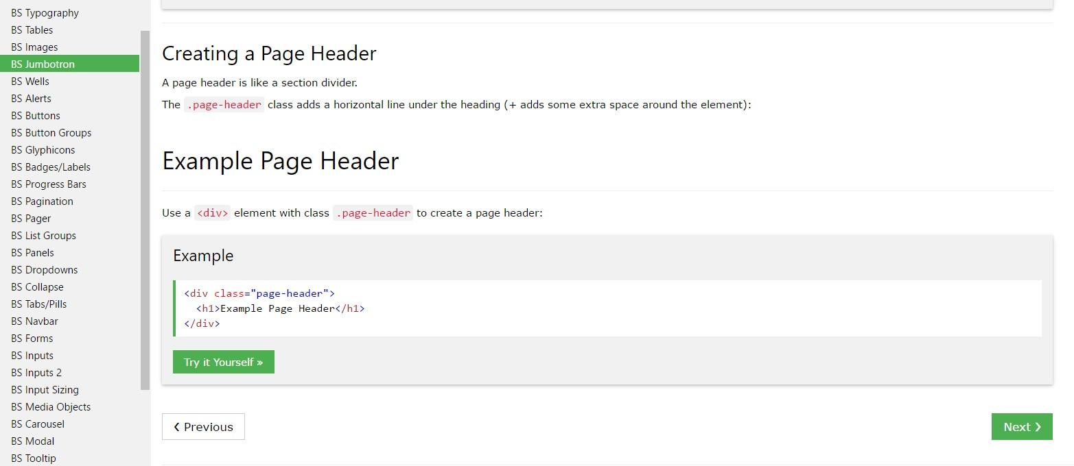 Bootstrap Header tutorial
