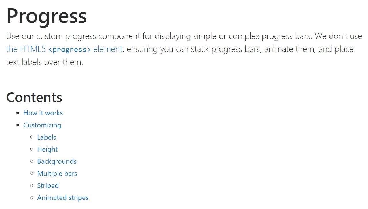 Bootstrap progress bar  approved  information