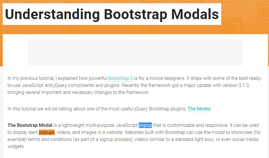 Yet another  valuable  post  concerning Bootstrap Modal Popup