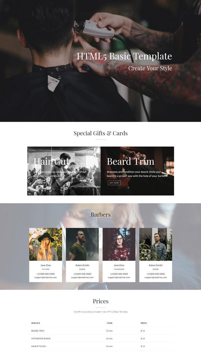 Basic Website Template